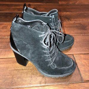 Women's size 7 Sam Edelman suede heeled boots